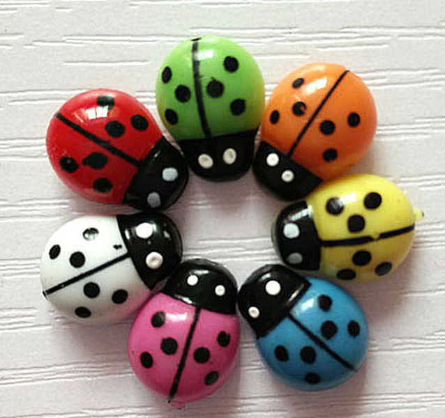 Free 10pcs 3d Plastic Ladybird Wall Stickers Home Decor