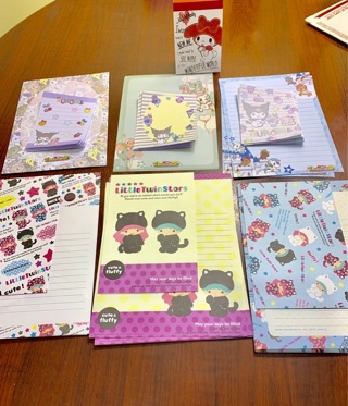 Huge Kawaii Lot - Made in Japan - Little Twin Stars My Melody Kuromi & Unicorn Note Pads Stationary