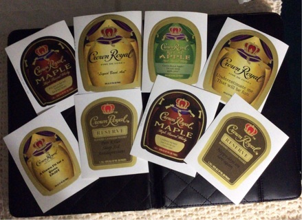 Large crown royal stickers eight of them