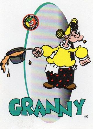 1994 Popeye Comics Collectible Trade card: Granny