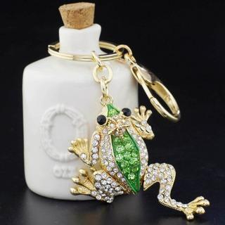 Unique Crown Frog Keyring Keychain Fashion Metal HandBag Pendant Purse Bag Buckle key chains