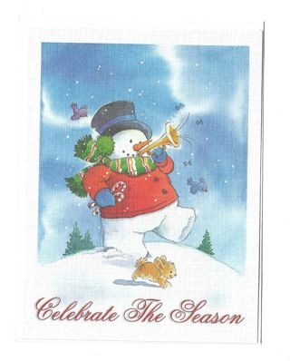 Christmas Card Unused With Envelope Snowman