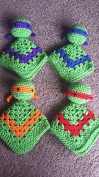 Crochet Ninja turtle lovey FREE SHIPPING
