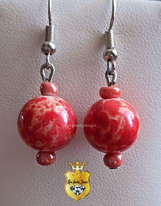 ❤️ price drop❤️ Beautiful handmade marbled earrings