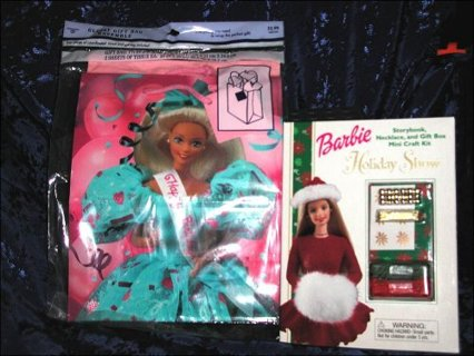 Barbie Doll Necklace Craft Kit - Gift Bag Ensemble / Christmas Craft Kit Book
