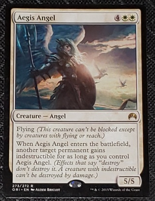 Aegis Angel  - Rare 273/272 Origins (ORI) Magic the Gathering trading card (2015)
