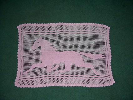 Free Racing Day Filet Crochet Horse Pattern Only Crochet Listia