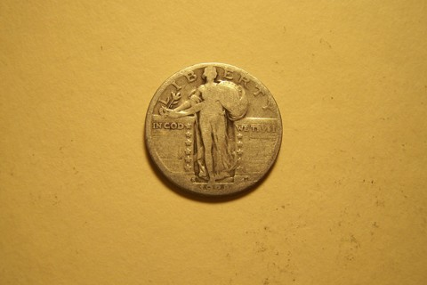 Silver 1928-S Standing Liberty Quarter