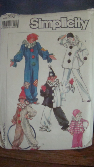 vintage clown costume pattern