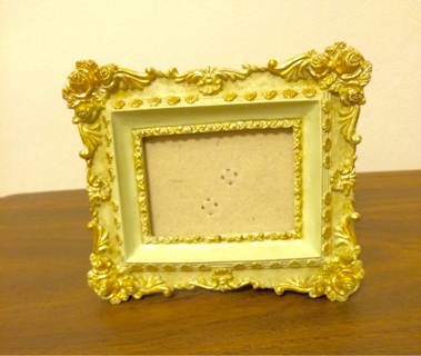 Antique Small Gold Rose Picture Frame
