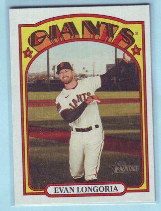 2021 Topps Heritage FLIP STOCK (ONLY 5 MADE!) Evan Longoria Baseball Card # 381 Giants
