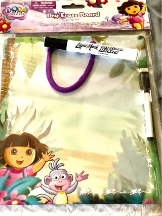 "Brand New: ""Dora The Explorer"" Dry Erase Board and Two Black Dry Erase Markers"