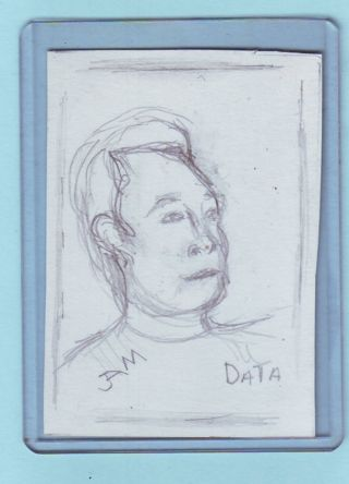 "2008 Star Trek The Next Generation Sketch Card ""Data"""