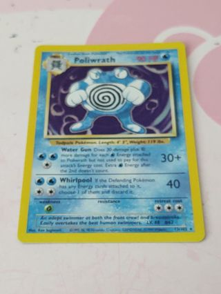 Vintage pokemon Poliwrath