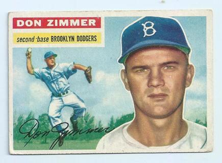 Don Zimmer Brooklyn Dodgers 1956 Topps