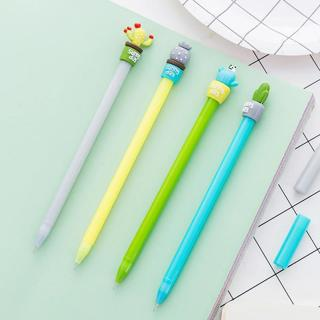 Kawaii Cactus Shape Gel Pen DIY Office Stationery and School Supplies Smooth Writing Black and Blu