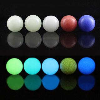 10Pcs 6-12MM Luminous Quartz Crystal Sphere Ball Glow In The Dark Crafts Decor