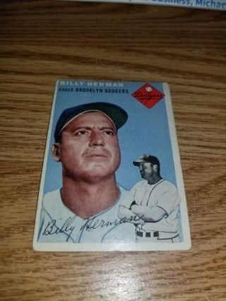 1954 Topps Baseball Billy Herman #86 Brooklyn Dodgers,VG condition,Free Shipping!