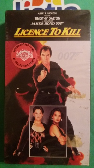 VHS movie  a licence to kill oo7  free shipping