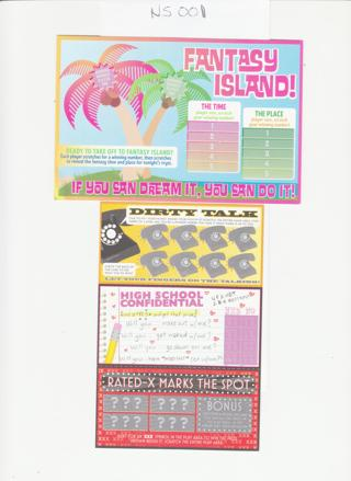 Naughty Adult Scratch Offs as shown NS001