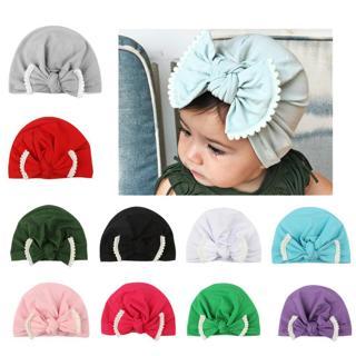 Cute Newborn Toddler Kids Baby Boy Girl Turban Cotton Beanie Hat Winter Warm Cap