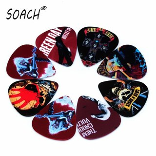 SOACH 10PCS 0.46mm high quality guitar picks two side pick Band mix picks earrings DIY Mix picks