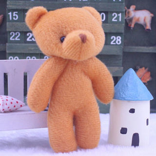 Cute Bear Baby Plush Stuffed Animal Toy Doll Christmas Birthday Gift Pendant Toy