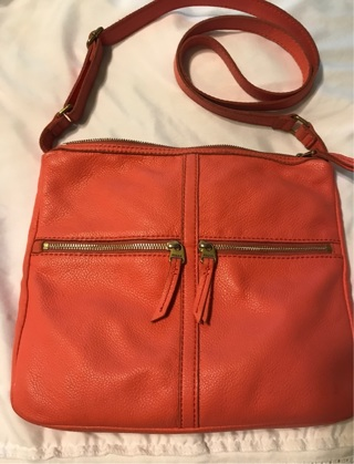 Cowhide Leather Fossil Bag