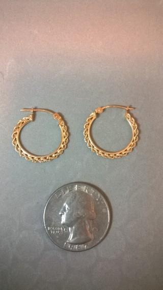 10k braided hoop earrings