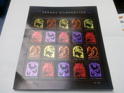 DON'S DAILY DEAL. 20. SPOOKY SILHOUETTES FOREVER STAMPS.(FULL SHEET)
