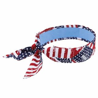 Cooling Bandana, Stars & Stripes, Lined with Evaporative PVA Material for Fast Cooling Relief