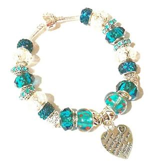 "(NEW!) ""Carmen, Spanish Love"" Euro Bracelet! {Spanish Inscription Charm!}"