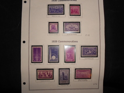 U.S. Comm. Stamps lot B- 1938-39 complete