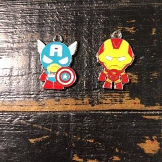 Captain America & Ironman Charms