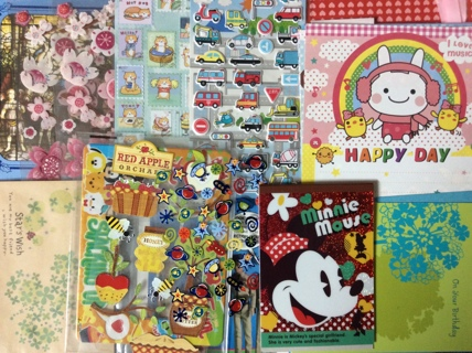 Kawaii Cleanup Items from My Desk - Stickers Cards Stationery Envelopes Memo Sheets & More
