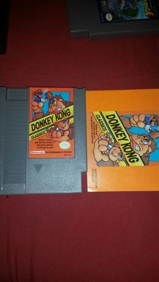 NES *Donkey Kong Classics* Game w/manual