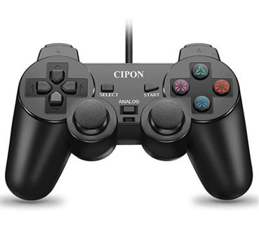PS2 Controller Wired, CIPON Black Remote for Sony Playstation 2 Console