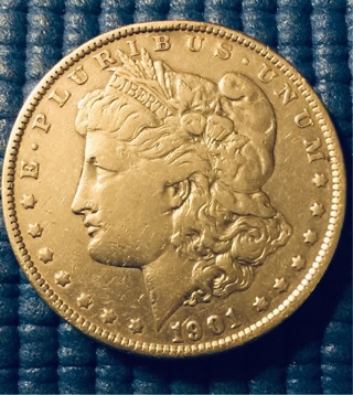 1901 Morgan Silver Dollar valued $2000-$3500