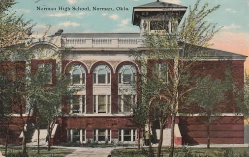 Vintage Used Postcard: 1911 Norman High School, Norman, OK