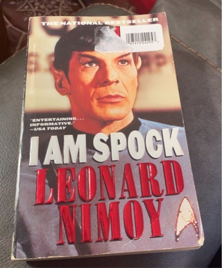 I am Spock Leonard Nimoy Book Star Trek