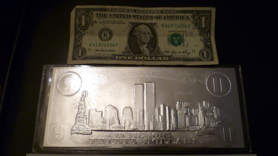 Free: $20 September 11 Silver Leaf Certificate twenty dollar bill ...