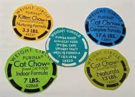 9 Purina cat chow weight circles