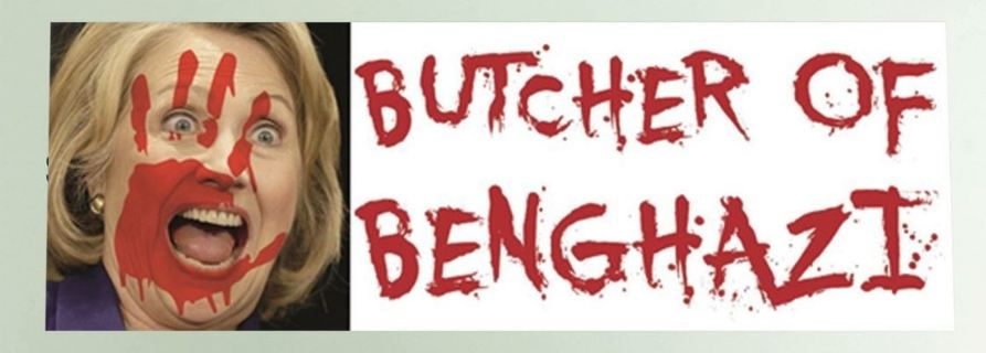 NEW Butcher of Benghazi Hillary Clinton Sticker Car Bumper Sticker Funny Novelty
