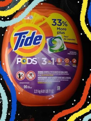 ✔ SPECIAL LIMITED TIME- TIDE PODS SPRING MEADOW HE - 96 COUNT TUB ✔