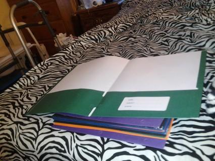 10 Back To School Folders Brand New