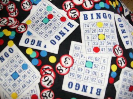 Bingo print fabric 100% cotton, nice piece