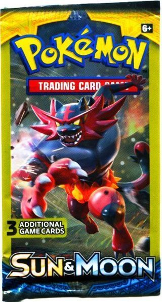 NEW Pokemon XY SUN & MOON Card Pack TCG Pokemon Cards Booster Pack Hobby Collectible