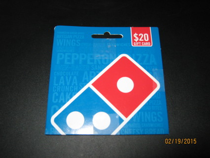 $20.00 Dominoes Gift Card