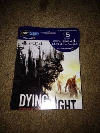 Free: Vudu credit $5 Dying Light promo ps3/ps4 - Other DVDs
