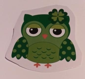 ST PATRICKS OWL WINDOW CLINGS LOT 2